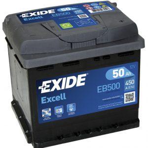 Μπαταρία EXIDE EXCELL 50AH EB500 – 12V