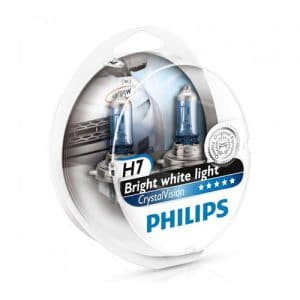 ΛΑΜΠΕΣ PHILIPS H7 12V 55W CRYSTAL VISION 4300K