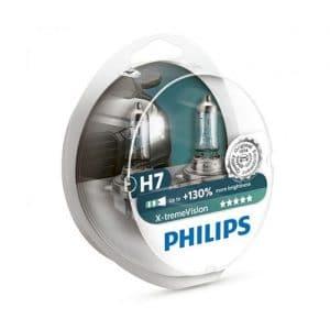 ΛΑΜΠΕΣ PHILIPS H7 X-TREME VISION  130% ΠΕΡΙΣΣΟΤΕΡΟ ΦΩΣ