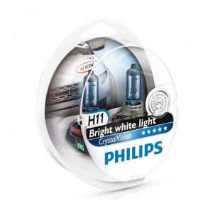 ΛΑΜΠΕΣ PHILIPS H11 12V 55W CRYSTAL VISION 4300K