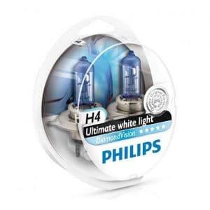 ΛΑΜΠΕΣ PHILIPS H4 12V 55W DIAMOND VISION 5000K