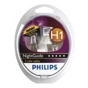 ΛΑΜΠΕΣ H1 PHILIPS NIGHTGUIDE DOUBLELIFE 55W 12V