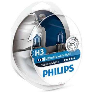 ΛΑΜΠΕΣ H3 PHILIPS  DIAMOND VISION 5000K