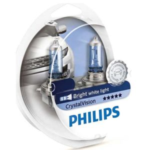 ΛΑΜΠΕΣ PHILIPS H4 12V 55W CRYSTAL VISION 4300K