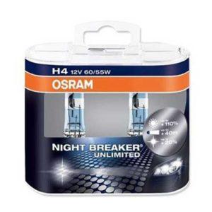 ΛΑΜΠΕΣ OSRAM NIGHT BREAKER UNLIMITED  110% H4 60/55W